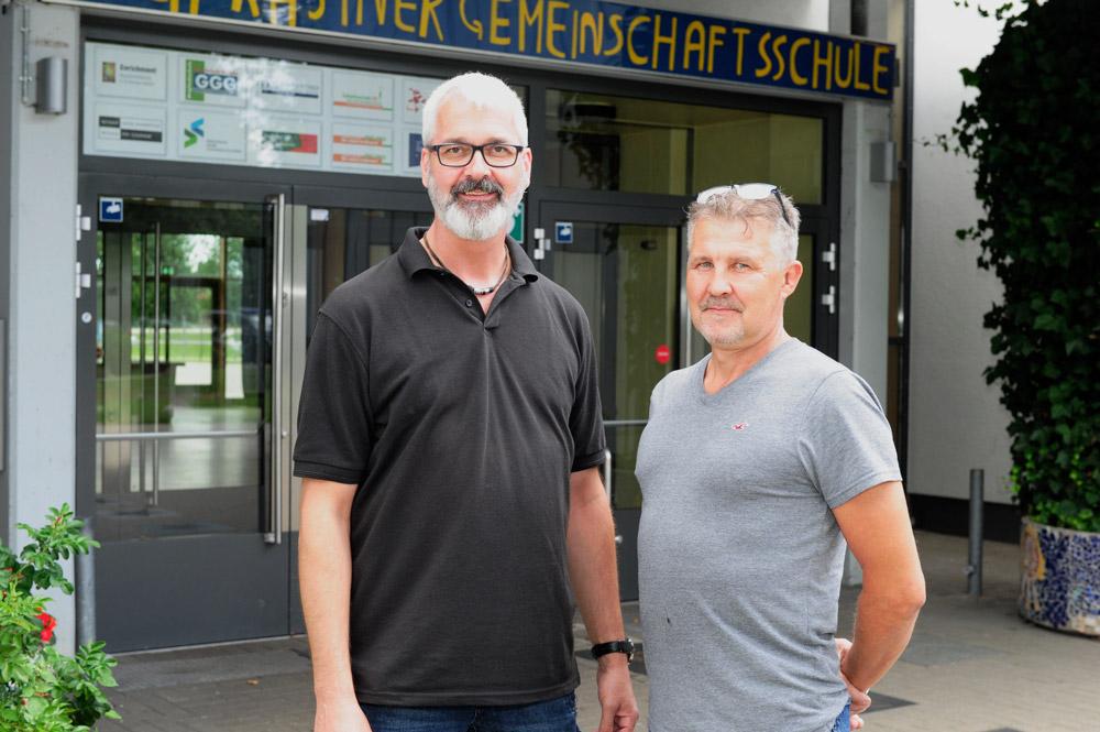 Unsere Hausmeister – Herr Steinmann, Herr Pospiech