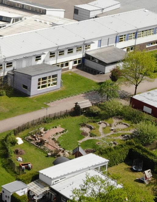 Das grüne Klassenzimmer von oben