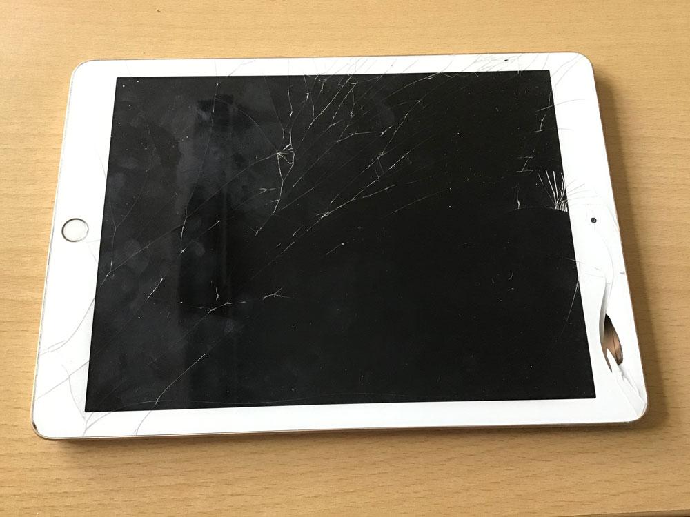 Ein beschädigtes Tablet