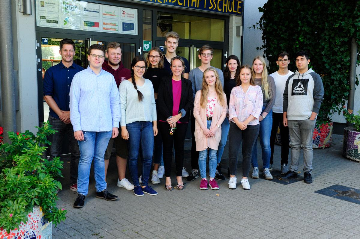 Ein Teil des Schulsprecherteam / SV der EKG Barsbüttel