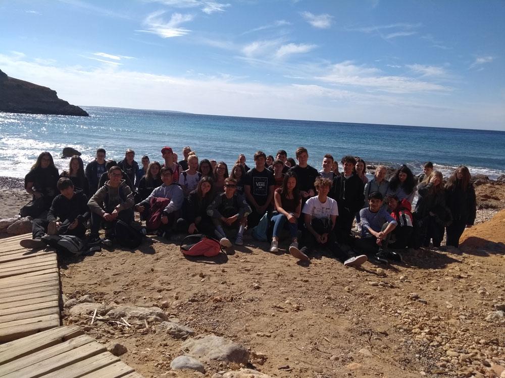 Schüler und Schülerinnen der EKG in Spanien beim Spanischaustausch
